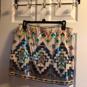 Aztec sequined skirt